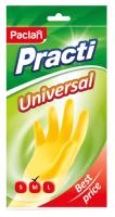 Перчатки хозяйственные Paclan Practi Universal (M, желтый) -