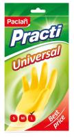 Перчатки хозяйственные Paclan Practi Universal (L, желтый) -
