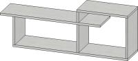 Полка-ячейка Мебель-Класс Имидж-1 (сосна) -