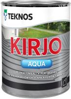 Краска Teknos Kirjo Aqua Base 3 (900мл, прозрачный) -