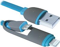Кабель Defender USB10-03BP / 87487 (синий) -