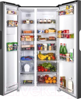 Холодильник с морозильником Maunfeld MFF 177NFB