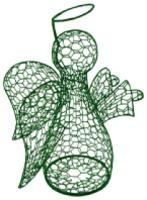 Каркасное топиари Грифонсервис Ангел ТОП2-2 (зеленый) -
