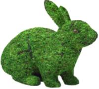 Каркасное топиари Грифонсервис Кролик сидя ТОП10-1 (зеленый) -