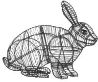 Каркасное топиари Грифонсервис Кролик сидя ТОП11-2 (зеленый) -