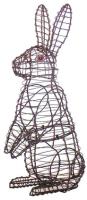 Каркасное топиари Грифонсервис Кролик стоя ТОП13-1 (зеленый) -