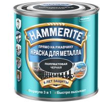 Краска Hammerite Для металла (250мл, черный полуматовый) -