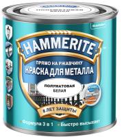 Краска Hammerite Для металла (250мл, белый полуматовый) -