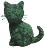Каркасное топиари Грифонсервис Кот сидя ТОП19-1 (зеленый) -