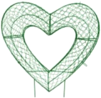Каркасное топиари Грифонсервис Сердце ТОП45-1 (зеленый) -