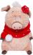 Мягкая игрушка Budi Basa Кабаниха Ненила в красно-белом / Ps25-025 -