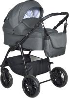 Детская универсальная коляска INDIGO Torino 2 в 1 (To 06, темно-серый) -