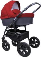 Детская универсальная коляска Smile Line Serenade 20 F 3 в 1 (Se 26, темно-серый/красный) -