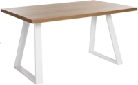 Обеденный стол Грифонсервис Loft СМ5 (белый/тик) -