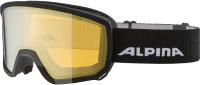 Маска горнолыжная Alpina Sports 2020-21 Scarabeo HM / A72498-36 (черный/золото) -
