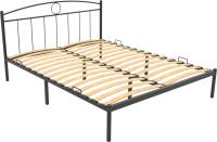 Полуторная кровать Князев Мебель Люмия ЛЯ.120.190.Ч (черный глянец) -