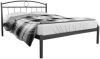 Полуторная кровать Князев Мебель Люмия ЛЯ.140.200.Ч (черный глянец) -