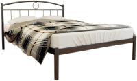 Двуспальная кровать Князев Мебель Люмия ЛЯ.160.190.К (коричневый муар) -
