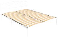 Двуспальная кровать Князев Мебель Лилия ЛЛЯ.160.200.Б (белый муар) -