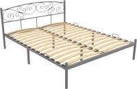 Полуторная кровать Князев Мебель Лилия ЛЛЯ.120.200.С (серый муар) -