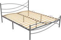 Полуторная кровать Князев Мебель Калифорния КЯ.120.200.С (серый муар) -