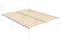 Полуторная кровать Князев Мебель Маргарита МА.120.200.Б (белый муар) -