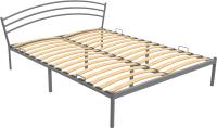 Полуторная кровать Князев Мебель Марго МО.140.190.С (серый муар) -