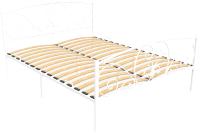 Полуторная кровать Князев Мебель Нимфея НЯ.140.200.Б (белый муар) -