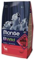 Корм для собак Monge BWild Puppy All Breeds Deer (12кг) -