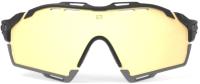 Очки солнцезащитные Rudy Project Cutline / SP635742-0005 (Black Gloss/MLS Gold Bumper/Black/Grey) -