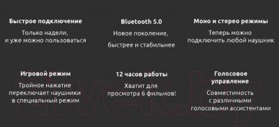 Наушники-гарнитура Xiaomi Mi True Wireless Earbuds Basic S / ZBW4502GL/TWSEJ05LS (черный)