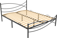 Односпальная кровать Князев Мебель Калифорния КЯ.90.200.Ч (черный глянец) -