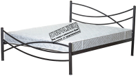 Односпальная кровать Князев Мебель Калифорния КЯ.90.190.К (коричневый муар) -