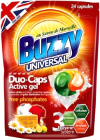 Капсулы для стирки Buzzy Duo Caps Universal (24x18г) -