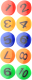 Набор магнитов deVente Numerals / 6021001 (10шт) -