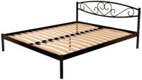 Двуспальная кровать Князев Мебель Магнолия МЯ.160.200.К (коричневый муар) -