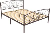 Односпальная кровать Князев Мебель Нимфея НЯ.90.200.К (коричневый муар) -