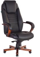 Кресло офисное King Style KE-1023WALNUT/BLACK (кожа черный/дерево) -