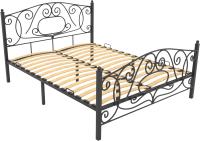 Полуторная кровать Князев Мебель Виктория ВЯ.120.190.Ч (черный глянец) -