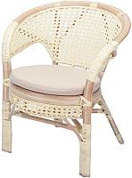 Кресло садовое Мир Ротанга 02/15В (белый) -