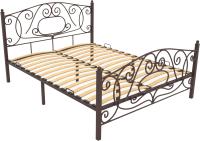 Односпальная кровать Князев Мебель Виктория ВЯ.90.200.К (коричневый муар) -