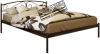 Односпальная кровать Князев Мебель Верона ВА.90.190.К (коричневый муар) -