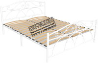 Полуторная кровать Князев Мебель Морена МНА.120.200.Б (белый муар) -