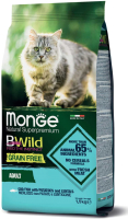 Корм для кошек Monge BWild Grain Free Cod Fish Potatoes (1.5кг) -
