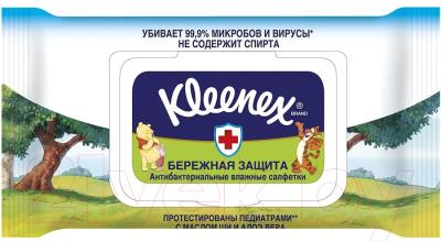 Влажные салфетки Kleenex Protect Disney антибактериальные (40шт)