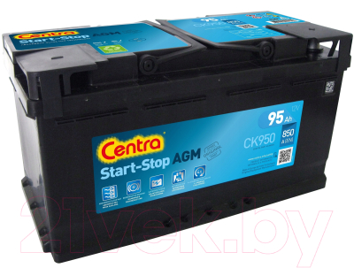 Автомобильный аккумулятор Centra AGM Start&Stop R+ / CK950
