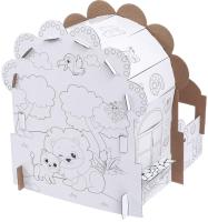 Кукольный домик Zabiaka Домик-раскраска. Веселый зоопарк / 4621640 -