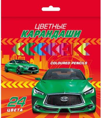 Набор цветных карандашей Hatber ВК Автопанорама / BKc 24710