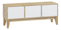 Тумба Woodcraft Гарленд 10004 (дуб сантана золотистый/белый шагрень) -