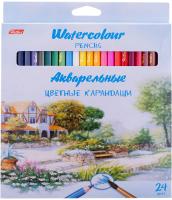 Набор акварельных карандашей Hatber Пейзаж / BKa-24350 (24цв) -